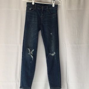 J Brand cropped Mischief destructed jeans